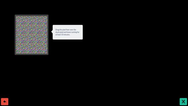 Easy: Repair Stuck (Red, Blue, Green) Or Dead (Black) Pixels