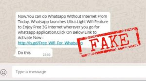 spot fake WhatsApp messages