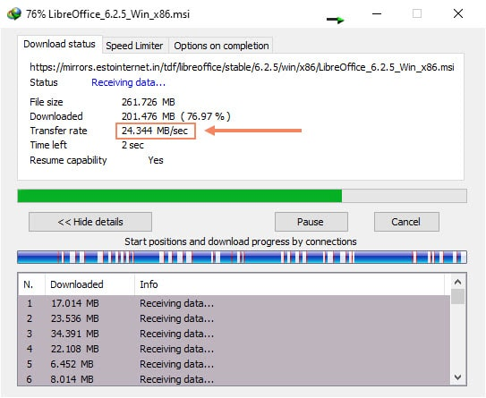 Internet Download Manager After Tweak Speed
