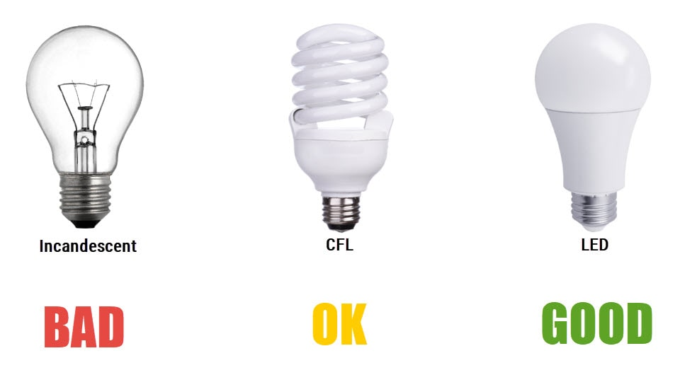 Incandescent vs CFL vs LED: Saves You Money
