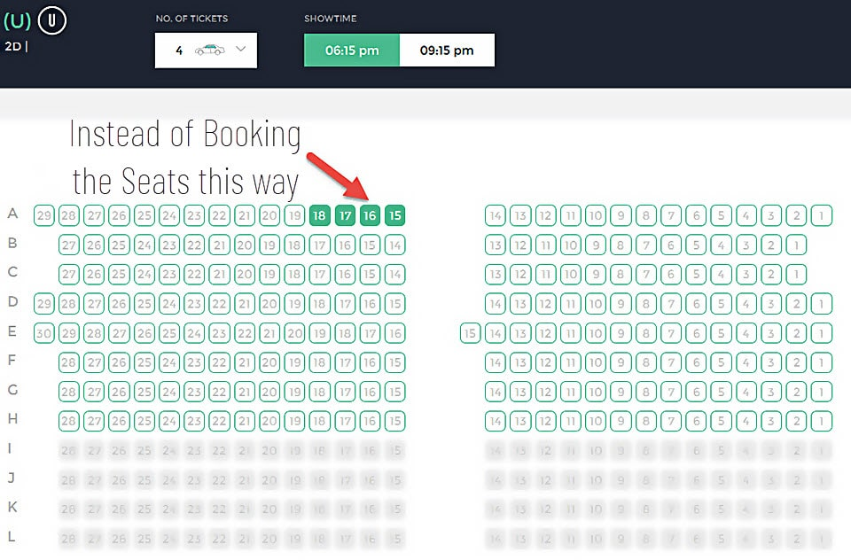 Regular tickets booking way